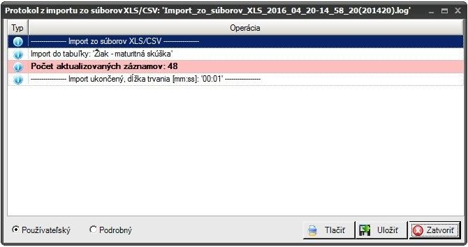Import vysledkov ec ms