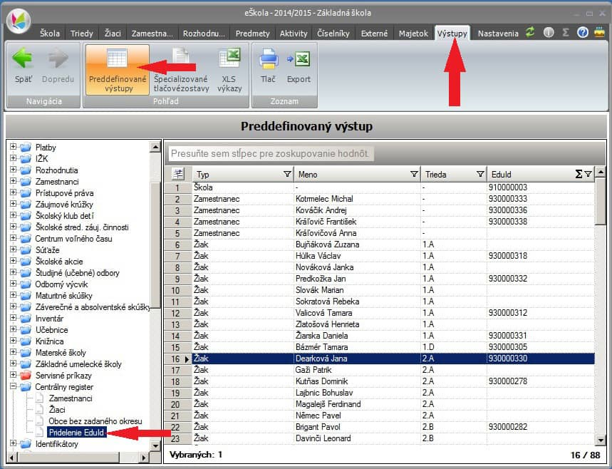 Komunikácia s centrálnym registrom (cr)